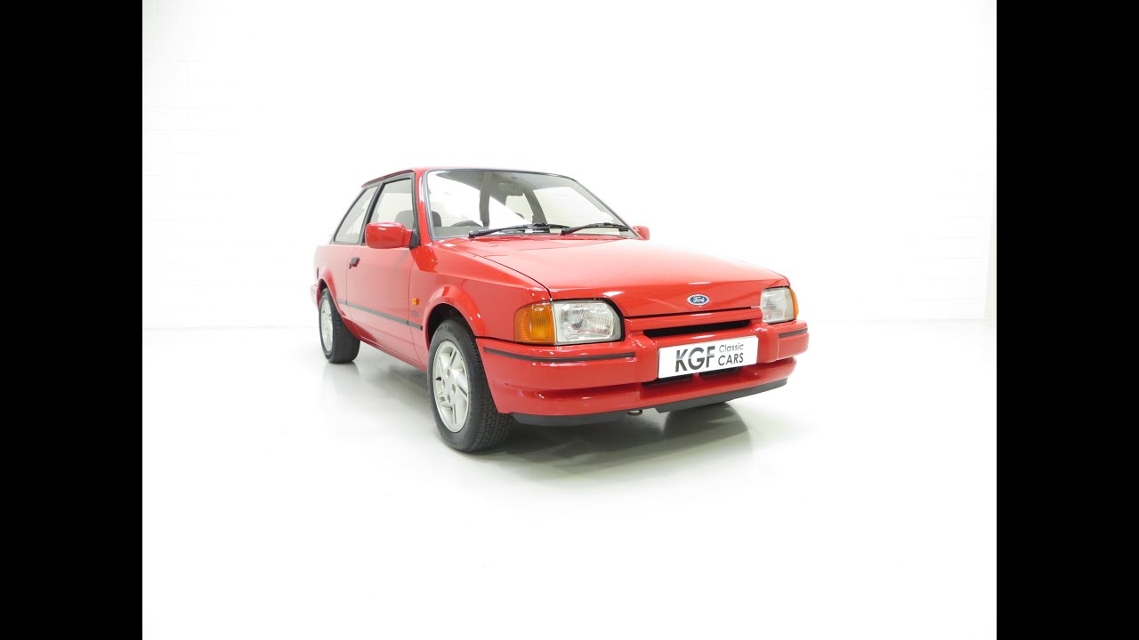 an original early collectors ford escort xr3i mk4 with. Black Bedroom Furniture Sets. Home Design Ideas