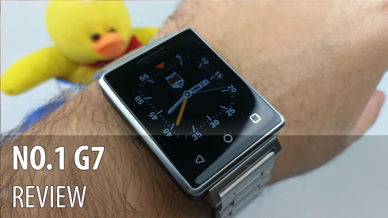 NO.1 G7 Review în Limba Română  (Smartwatch cu funcții de telefon și preț accesibil)