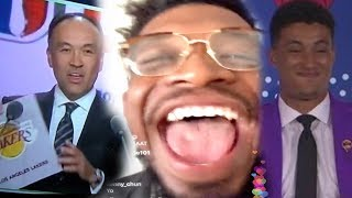 LAKERS NATION STAND UP BABY!!! NBA DRAFT LOTTERY LIVE REACTION!