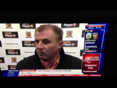 Paul Jewell interview after ITFC defeat to Hull