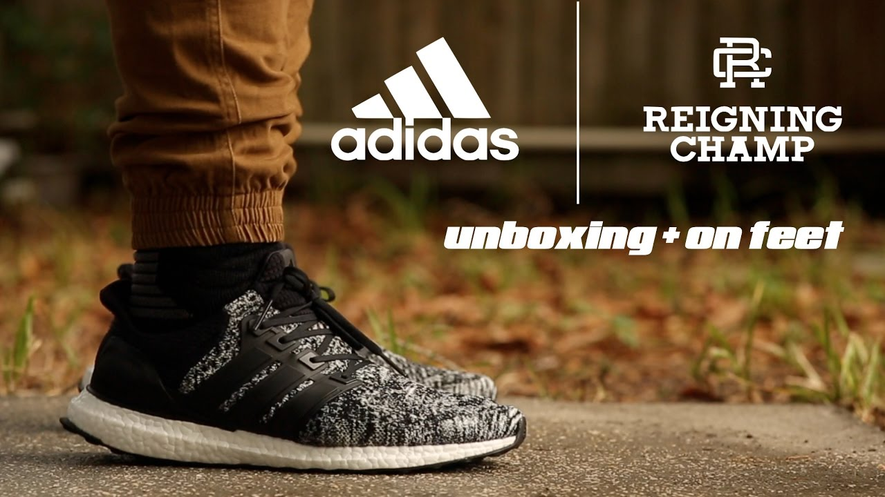 5ce626af952 Adidas Ultra Boost  Reigning Champ  Unboxing + On Feet - YouTube