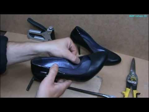 Ремонт обуви. Уменьшение размера дамских туфель