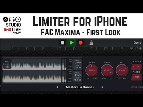 Limiter for iPhone - FAC Maxima First Look (GarageBand iOS)