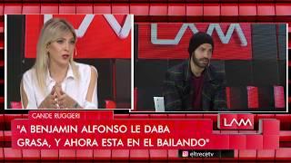 La reacción de Cande Ruggeri al saber que su ex Benajmín Alfonso va a Bailando