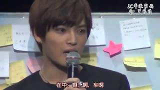 [ENG] Nanjing FM - Kim Jaejoong mentioning Heechul