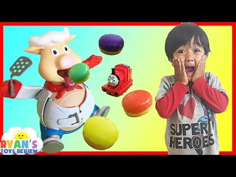Thumbnail: Pop The Pig Family Fun Game for kids Surprise Toys Thomas and Friends Ryan ToysReview