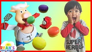 Pop The Pig Family Fun Game for kids Surprise Toys Thomas and Friends Ryan ToysReview