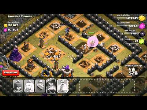 Clash Of Clans - Sherbet Towers (How To Beat)