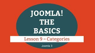 Joomla 3 Tutorial - Lesson 09 - Categories thumbnail