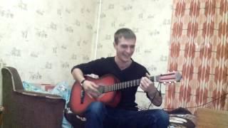 Под гитару рэп,ТГК только там.симпатичный парень играет на гитаре хорошо поет.спел красиво.шикардос)