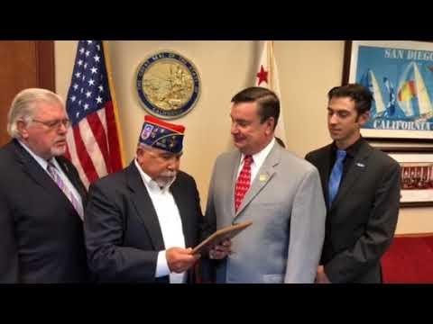 Senator Anderson Receives The Bravo-Zulu Award From The American G.I. Forum California