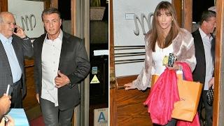 Sylvester Stallone And Wife Jennifer Flavin Enjoy Valentine's Day Dinner