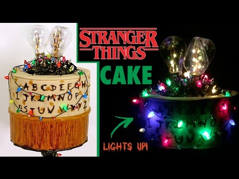 STRANGER THINGS CAKE How To Make A LIGHT UP Stranger Things Portal Halloween Cake
