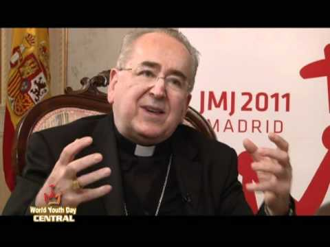 Life on the Rock - World Youth Day Madrid Preview - Fr. Mark w Doug w Cardinal Rouco 04-07-2011