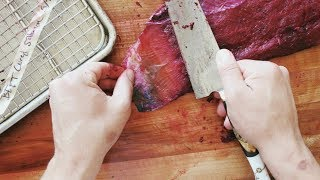 how to make salmon gravlax | Beet cured lox