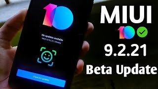 Miui 10 Beta 9.2.21 Update - Face Unlock in App Lock & Super Stable Update ! Video