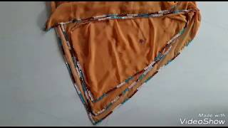 New latest beautiful Saree border design!! Latest zip and kundan work design!! Odni work