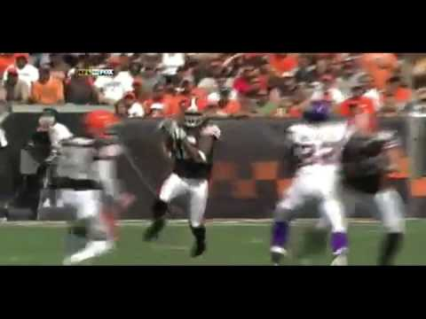 Josh Cribbs Returns a Punt for a TD Against the Vikings
