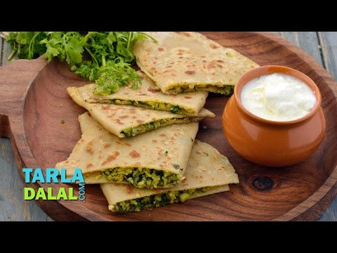 Stuffed Cauliflower Parathas by Tarla Dalal