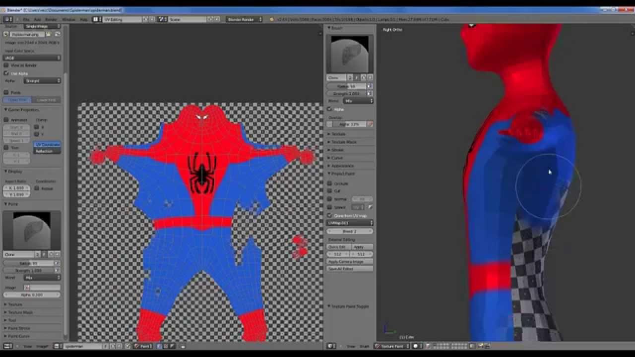 Crear Spiderman 3d Blender P3 Youtube
