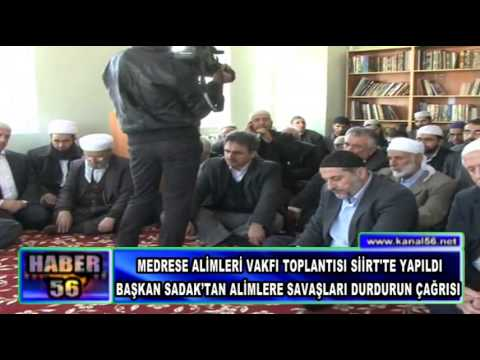MEDRESE ALİMLERİ VAKFI TOPLANTISI SİİRT'TE YAPILDI