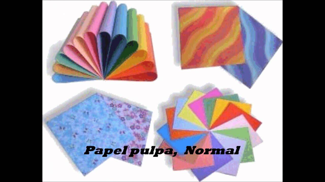 Tipos de papel youtube - Tipos de papel manualidades ...