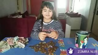 Kumbaramı Patlattım|İçinden Kaç Lira Çıktı?|Kumbara Açma|Eğlenceli Çocuk Videosu|Funnykids