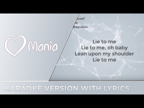 Mikolas Josef - Lie To Me (Czech Republic) // Karaoke Version // ESC Mania