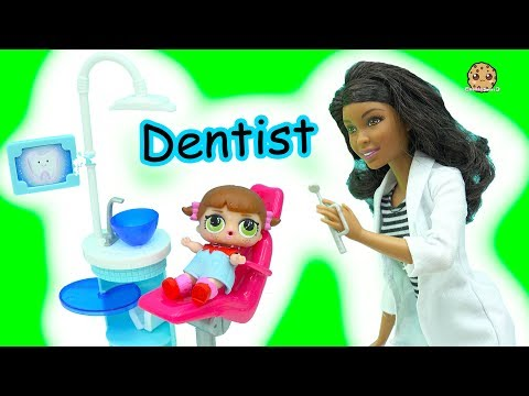 Thumbnail: LOL Surprise Blind Bag Baby Doll Go To Doctor Barbie Dentist & Bad Babies Pee, Spit , Cry