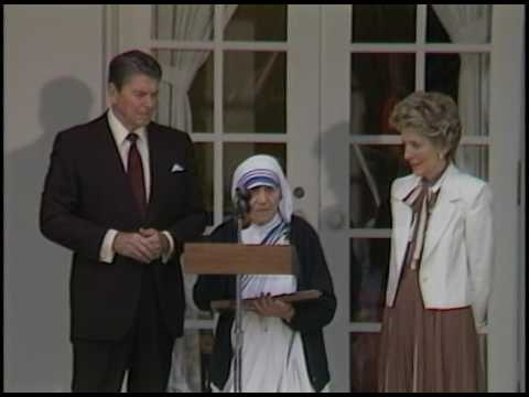 President Reagan Presenting the Presidential Medal of Freedom to Mother Teresa on June 20, 1985