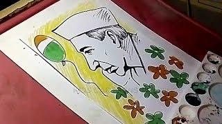 How to Draw Pandit Nehru Drawing for Kids