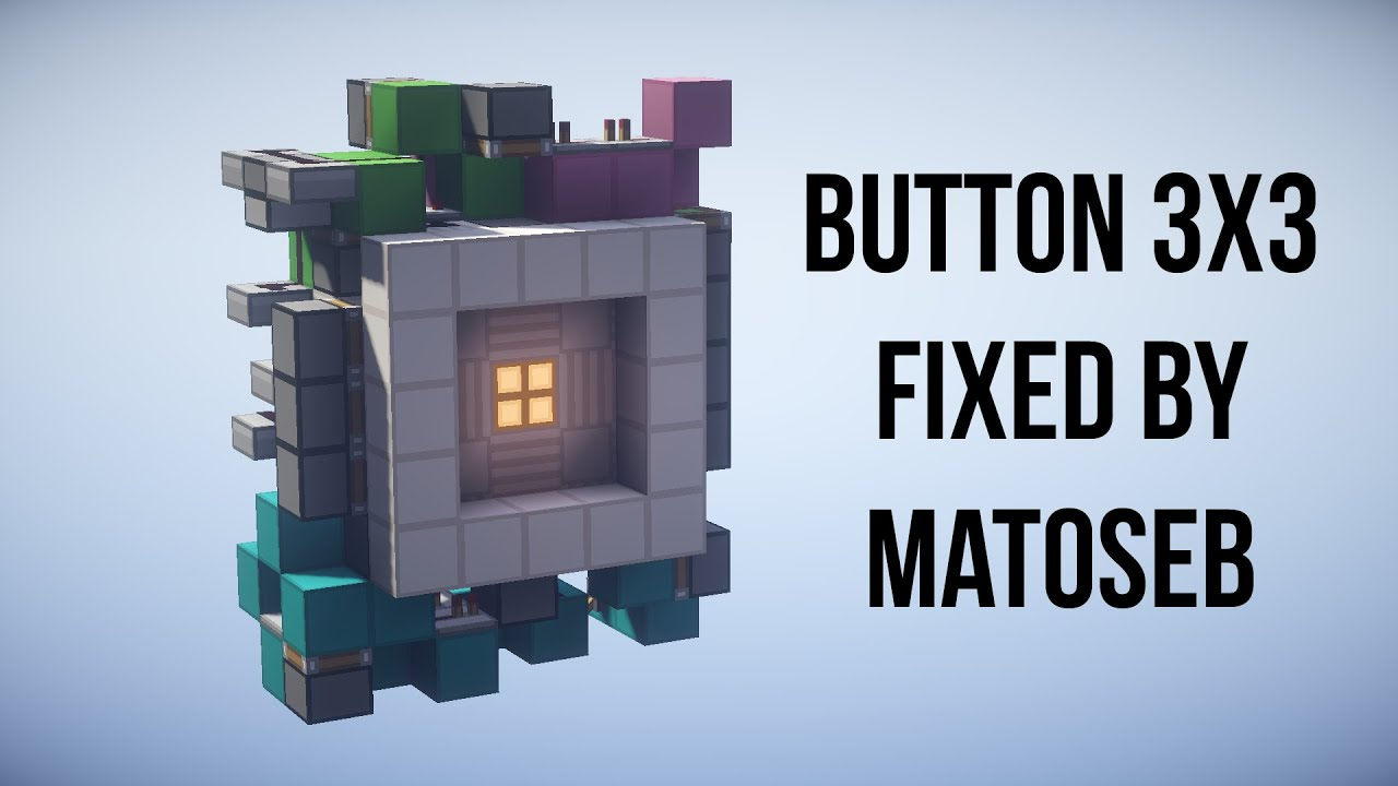 minecraft how to make a piston door with a button