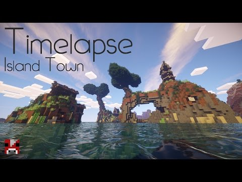 Minecraft Timelapse: An Island Town! (World Download!)