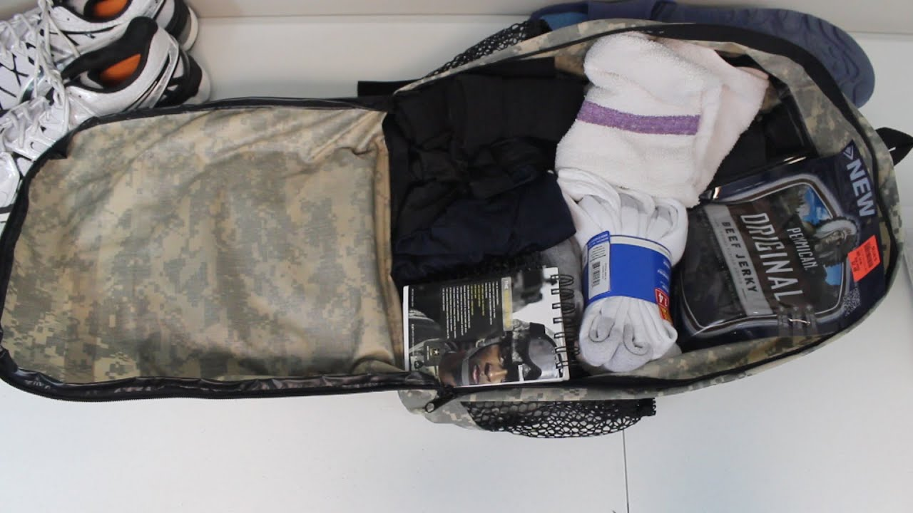 what im packing for army bct youtube