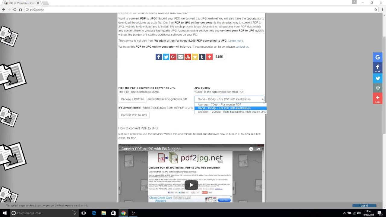 convertire file enc in pdf