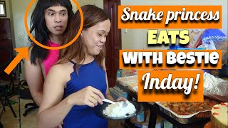 SNAKE PRINCESS EATS WITH HER BESTFRIEND INDAY!