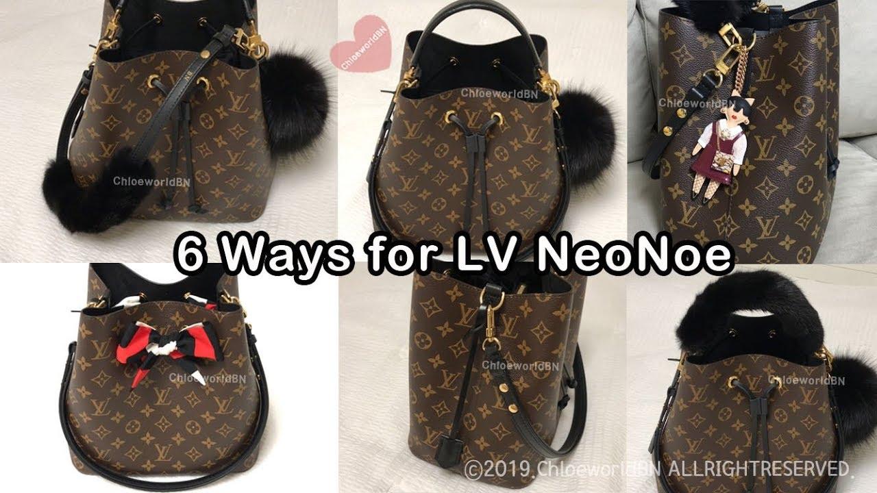 bf83a242 6 Ways to Decorate Louis Vuitton Neonoe - YouTube
