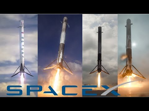 Watch All SpaceX Vertical Landing Rocket Compilation