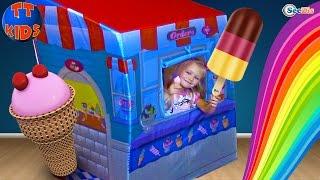МАГАЗИН МОРОЖЕНОГО Огромное Мороженое для Ярославы и Беби Бон Ice Cream Shop Unboxing for children