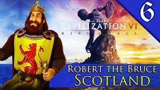 WAR WITH NEW ZEALAND Civilization 6 Rise and Fall Scotland Robert The Bruce Gameplay 6