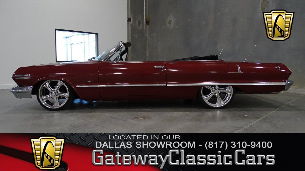1963 chevrolet impala convertible stock 14 gateway classic cars dallas showroom youtube. Black Bedroom Furniture Sets. Home Design Ideas