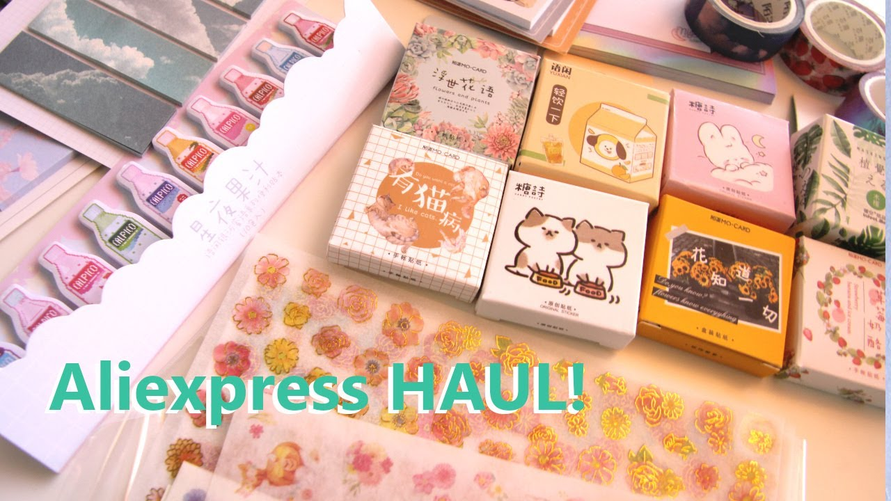 Aliexpress Stationery Haul   Affordable Stationary Review