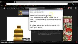how to get the goldrow in roblox