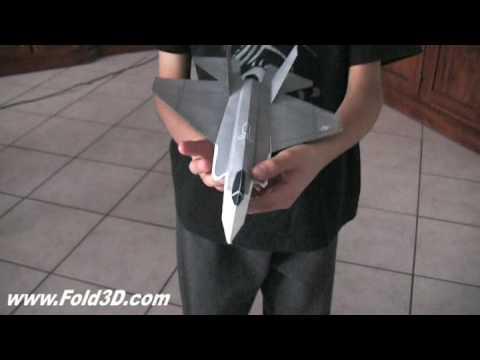 F35C Lightning II CV Variant 3D Paper Plane Model Design JSF