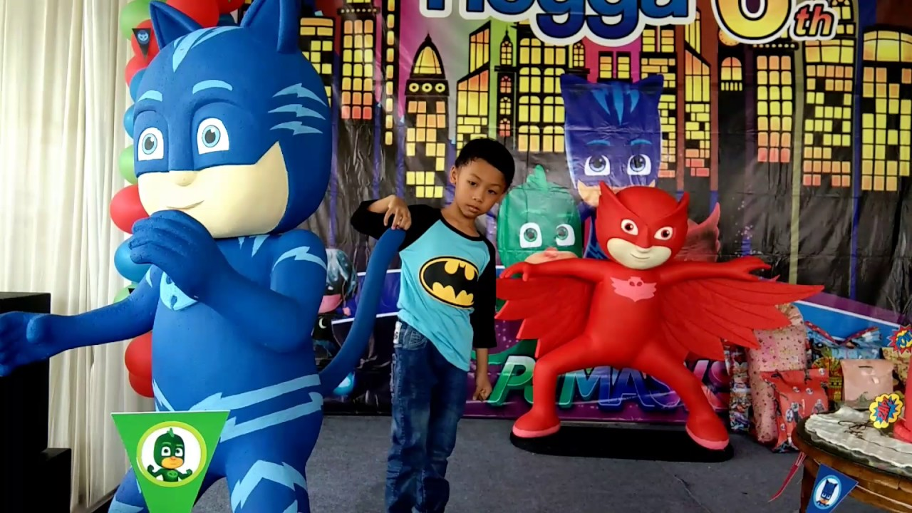 Pj Masks Birthday Party Catboy Gekko Owlette Youtube