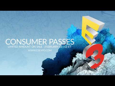 E3 2017 Games Show Open To The Public For First Time – Tickets On Sale From Feb 13th (video)