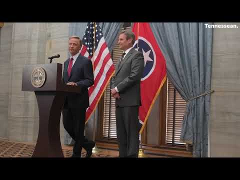 Governor Bill Haslam holds a joint press conference with governor-elect Bill Lee