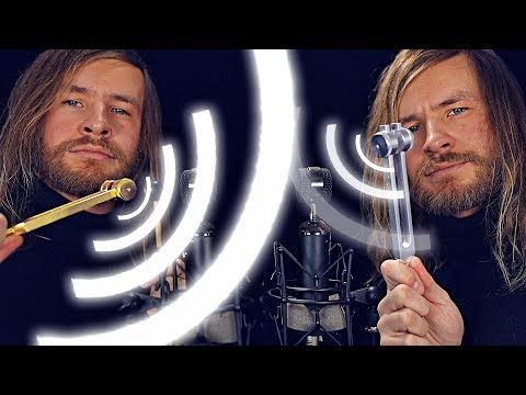 Twin Tuning Fork DEEP Ear Vibrations [ASMR]