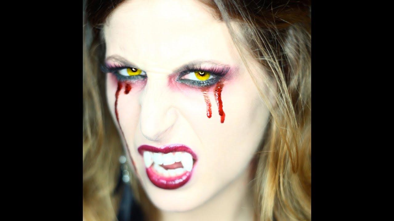 Trucco Halloween Vampiro Uomo.Makeup Tutorial Trucco Halloween Sexy Vampira