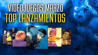 DESCUBRE los 6 VIDEOJUEGOS MÁS DESTACADOS que llegan en MARZO para PC y CONSOLAS